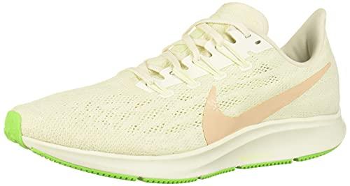 Nike Wmns Air Zoom Pegasus 36, Zapatillas de Atletismo Mujer, Multicolor (Phantom/Bio Beige-Barely Volt 2), 40 EU