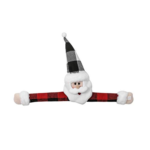 AIUII 2020 Kerstballen Christmas Santa Claus Snowman Doll Venster Gordijn Gesp Tieback Houder Decor