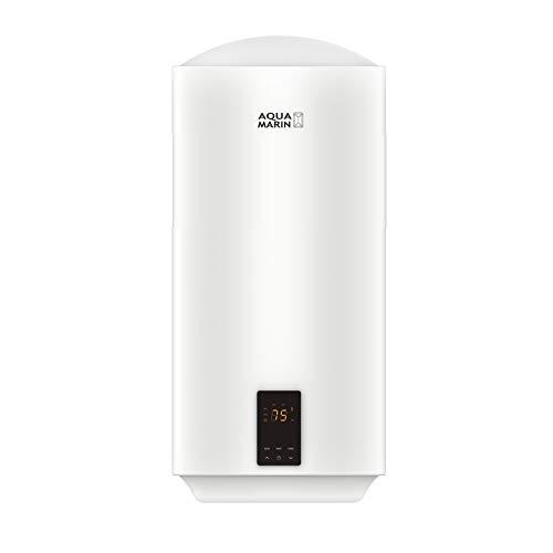 Aquamarin® Scaldabagno Elettrico - Capacità 100 litri, 2000 W, con Anodo di Magnesio, Termostato a 75 °C, Serbatoio Smaltato, Modello ECO e Intelligente - Scaldacqua, Boiler Elettrico Smart (80 L)