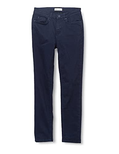 Springfield Pantalón Color Slim Cropped Eco Dye, Azul Oscuro, 40