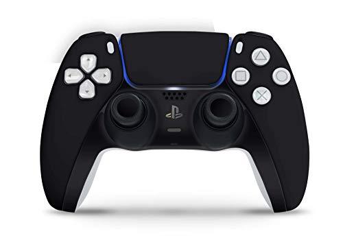 Skins4u Design Aufkleber Skin Wrap Folie für Sony Playstation 5 Controller PS5 DualSense Skins Schutz Folie Solid State schwarz
