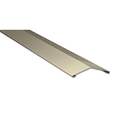 Firstblech flach | Kantteil | 198 x 198 mm | 150° | Material Stahl | Stärke 0,50 mm | Beschichtung 25 µm | Farbe Hellelfenbein