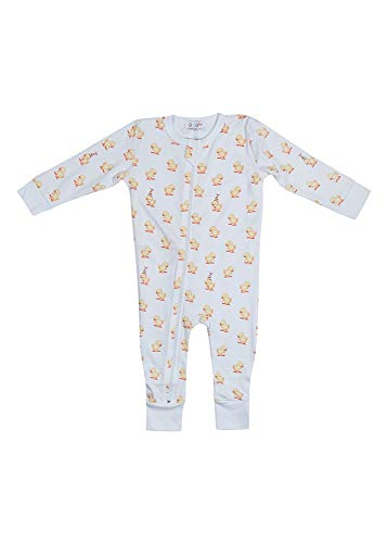 Giggle Onesie - Mono de algodón 100% Pima - amarillo - 12 meses