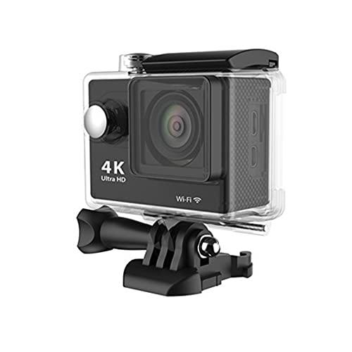 Cámara de acción Ultra HD 4K 30fps Wi-Fi 2.0 Pulgadas 170 Grados Cámaras de grabación de Video Impermeables subacuáticas Negro