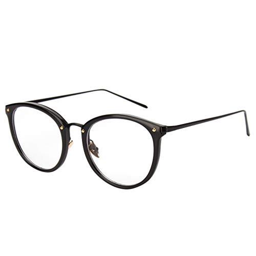 SUccess Klassische Nerdbrille Runden 40er 50er Jahre Pantobrille Vintage Look clear lens, Anti-blaues Licht Brille