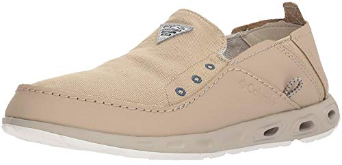 Columbia Men's Bahama Vent PFG Boat Shoe , Waterproof & Breathable, 10.5 Regular US, ancient fossil, whale