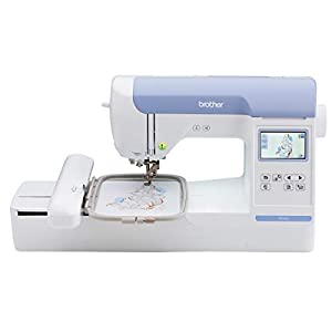 "Brother PE800 Embroidery Machine, 138 Built-in Designs, 5"" x 7"" Hoop Area, Large 3.2"" LCD Touchscreen, USB Port, 11 Font Styles"