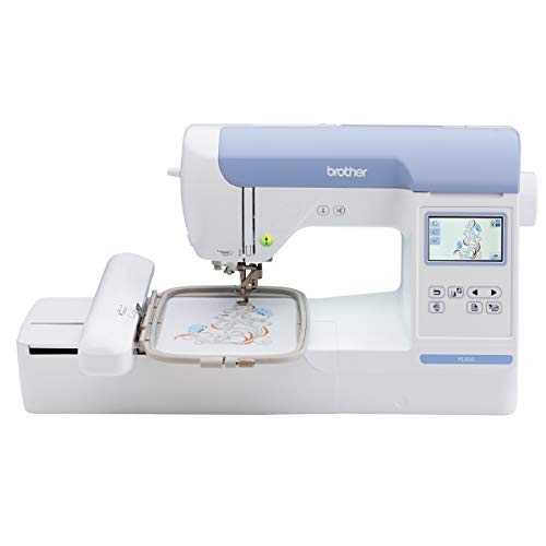 Brother PE800 Embroidery Machine 138 Builtin Designs 5quot x 7quot Hoop Area Large 32quot  LCD Touchscreen USB Port 11 Font Styles