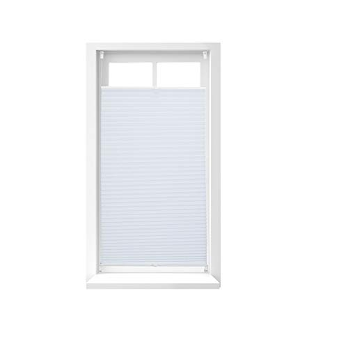 Relaxdays Store vénitien sans perçage volet fenêtre blanc laisse passer la lumière, 60 x 130 cm, blanc