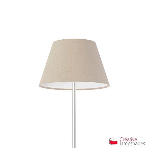 Creative Lampshades Empire Lampenschirm Haselnuss Leinwand - Durchmesser 55-33cm - H. 31cm, E27 Für Standleuchten, Nein