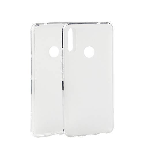 Easbuy Handy Hülle Soft TPU Silikon Hülle Etui Tasche für Cubot Max 2 (2019) Smartphone Bumper Back Cover Handytasche Handyhülle Schutzhülle (Weiß)