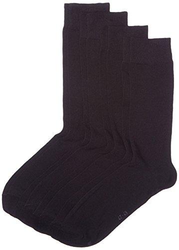 s.Oliver Socks Herren s20028 Socken, Schwarz (black 05), 46/50 (Herstellergröße: 47/49) (4er Pack)