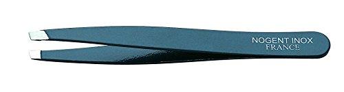 Nogent - Pince à Epiler couleur noire - 9,5 cm inox - Mors biais