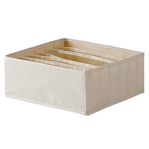 SUDU BH-Aufbewahrungsbox für Heimunterwäsche, Unterwäsche, Unterwäsche, Socken, Fach, Kleiderschrank, Aufbewahrungsbox, 6-Rahmen-Aufbewahrungsbox für Haushalt-BH, Unterwäsche, Aufbewahrungsbox für Soc