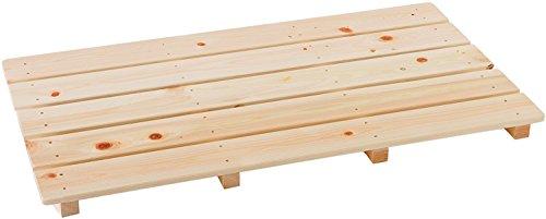 池川木材 【国産】 桧 厚板すのこ 5枚打 (85×46.5cm)