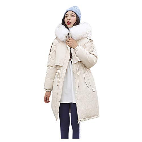 MOMOXI Abrigos North Face Abrigo con Capucha de Color SóLido de Las Nuevas SeñOras 2019, Abrigo de Mujer Abrigo con Capucha de ImitacióN Chaquetas SóLidas Largas Abrigos de Bolsillo