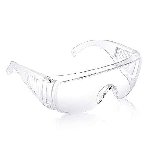 Occhiali protettivi, occhiali da lavoro, occhiale anti polvere uso industriale e laboratorio, protezione occhi trasparente, occhiali sovrapponibili.
