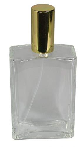 1 Flakon leer 100 ml mit Zerstäuberpumpe und Kappe Gold Balda selber Befüllen mit Parfum Fa.ars