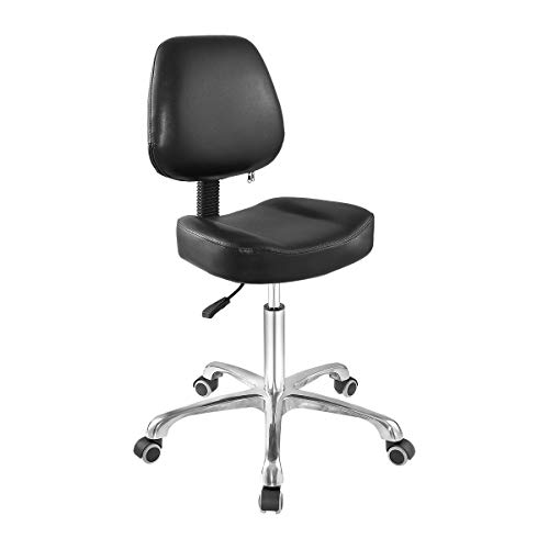 Grace & Grace Professional Office Series Height Adjustable with Ergonomic Tilting Backrest for Drafting,Computer,Studio,Workshop,Classroom, Lab, Counter (Supercomfortable, Black)