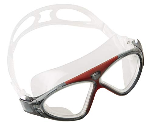 Seac Brille Vision HD Schwimmbrillen für Pool und Freiwasser für Damen und Herren, rot, one Size