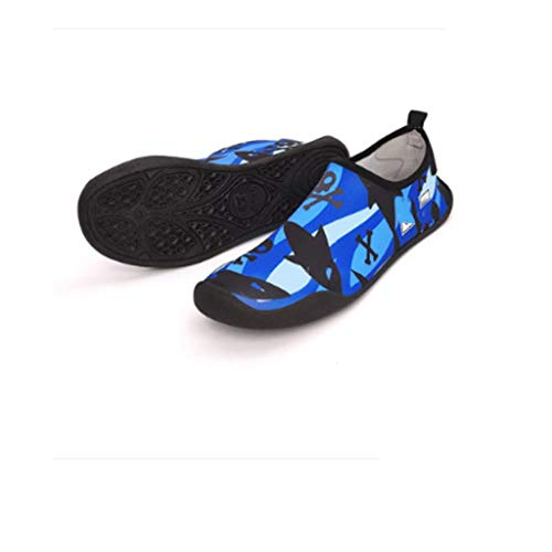 ZLDGYG Zapatos de Agua para Hombres Zapatos de natación diseño de Color sólido Zapatos de Playa de Verano Zapatillas de mar para Hombre (Size : 37/38)