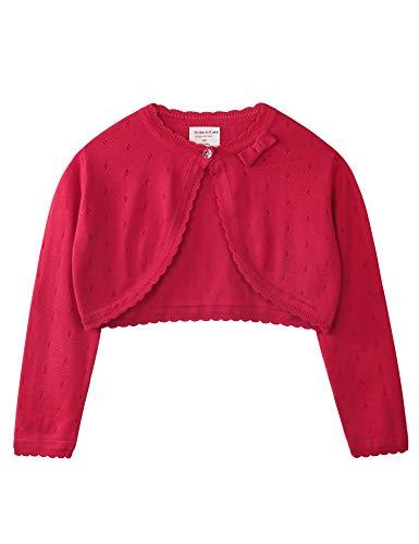Hawiton Chaqueta de Punto niña Invierno,para 1-7 años,Suave algodón Cárdigans Manga Larga Shrug Bolero Jersey de Punto,Ligero