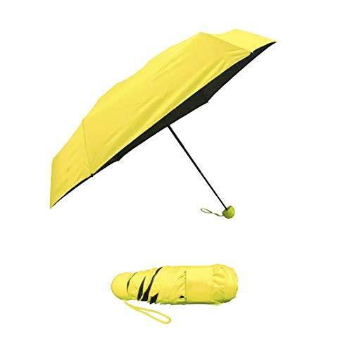 YINO - Paraguas bolsillo compacto plegable funda cápsula