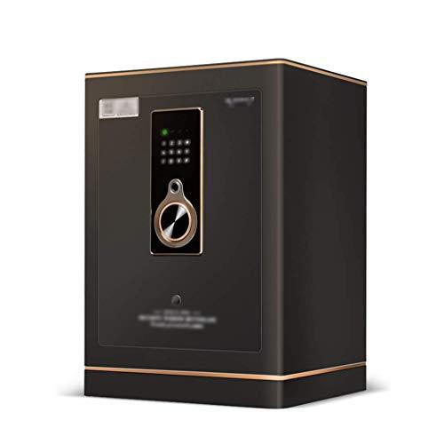 Gabinete de caja fuerte Gabinete de archivo de oficina Caja de depósito antirrobo de acero inoxidable para joyería, para oficina en casa Hotel Huella digital antirrobo para el hogar (Color: Negro, T