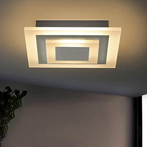 ZMH Plafoniera a LED da salotto dimmerabile 23W plafoniera con telecomando 30 cm quadrati Plafoniere per ufficio per soggiorno, camera da letto, cucina, 23W