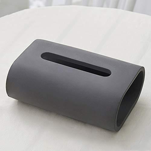 Nordic Paper moderna del tejido facial cubierta de la caja Holder, Cemento simple servilleta del organizador del sostenedor, la caja cilíndrica de toallas de papel Dispensador for los aparadores dormi