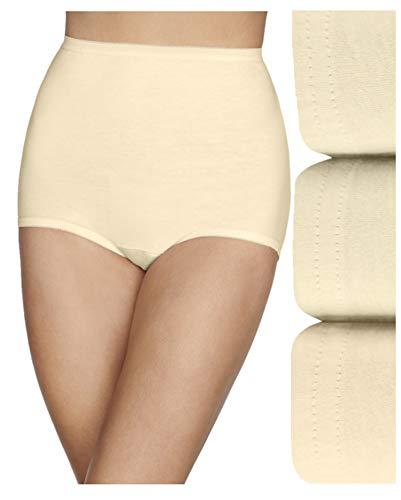 Vanity Fair Women's Lollipop Plus Size Brief Panties 15861, Elastic Leg Opening-Candleglow (3 Pack), 7
