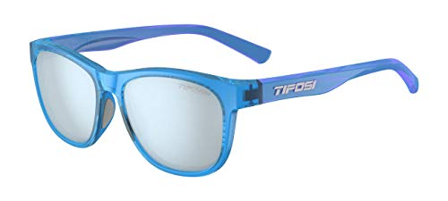 Tifosi Unisex's Swank Single Lens Eyewear, Crystal Sky Smoke Bright Blue, One Size
