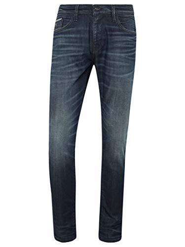 Mavi Herren Jeans Skinny James deep Brushed mavi Black 32 32