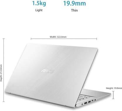 Asus VivoBook 14 Core i5 10th Gen - (8 GB/1 TB HDD/256 GB SSD/Windows 10 Home) X412FA-EK511T Thin and Light Laptop (14 inch, Transparent Silver, 1.50 kg)
