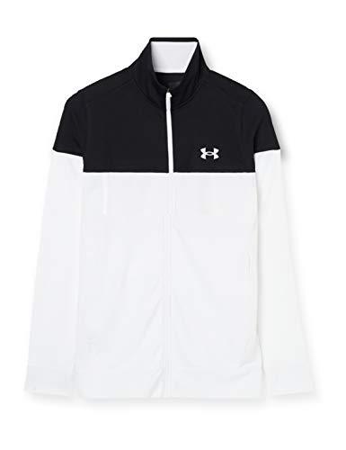 Under Armour Sudadera con Cremallera para Hombre Sportstyle Pique Jacket, Negro (006)/Blanco, M