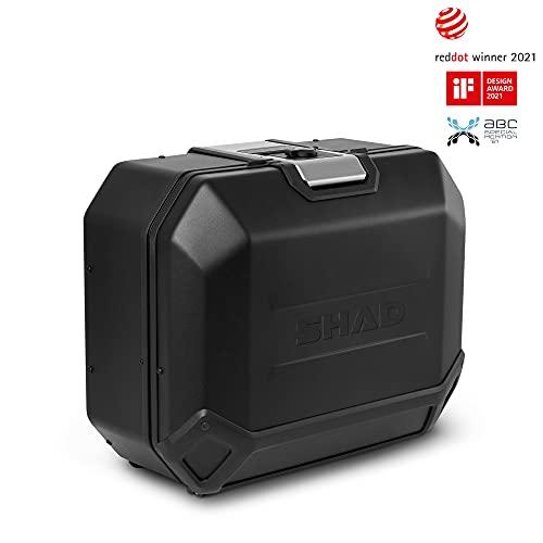 Shad D0TR36100RB Maleta Lateral Derecha TR36R Terra Edition, Black Aluminium