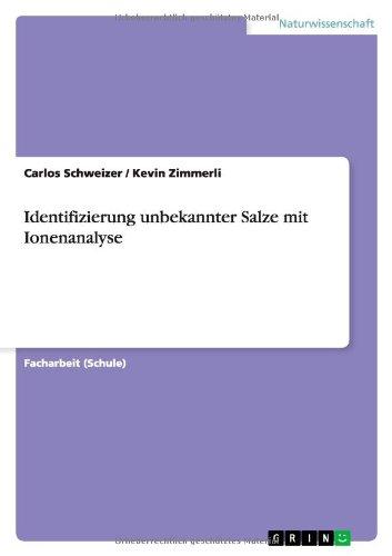 Identifizierung unbekannter Salze mit Ionenanalyse
