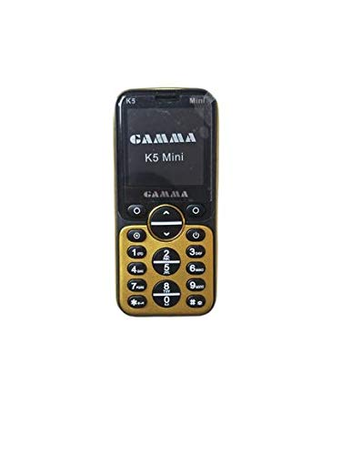 Gamma K5 1.3 Inch Screen Bluetooth dialer Mini Smallest GSM Cell Phone (Gold)