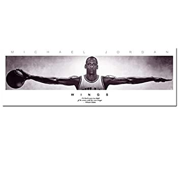 Michael Jordan Wings Basketball Art Silk Fabric Poster Print 50x150 cm Wall Picture Home Living Room Decoration No Frame