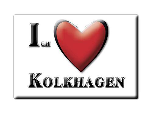Enjoymagnets KOLKHAGEN (NI) Souvenir Deutschland Niedersachsen Fridge Magnet KÜHLSCHRANK Magnet ICH Liebe I Love