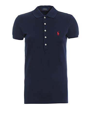 Polo Ralph Lauren Damen Stretch MESH/Julie Polo Poloshirt, Blau (Newport Navy Xw7Xh), X-Small