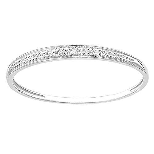 Naava Women White Diamond Anniversary Ring - Size Q PR12843W-Q