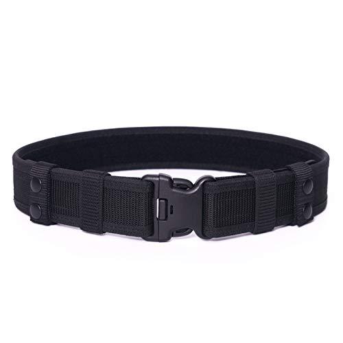 Duty Belt, Utility Stiffened Web Belt, Police Tactical Belts for Law Enforcement, L