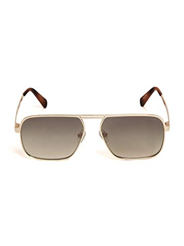 GUESS GU6939 Shiny Gold Front/Olive Gradient/Gold Flash Lens One Size