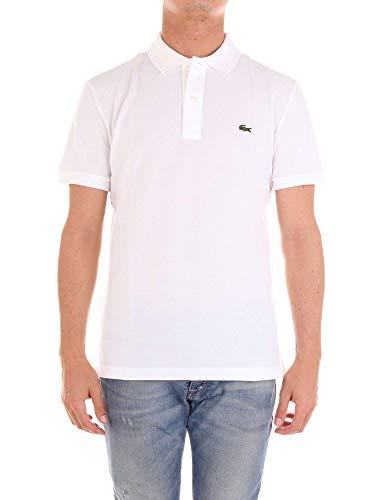 Lacoste PH4012, T-shirt Polo Uomo, Bianco (Blanc), Medium (Taglia Produttore: 4)