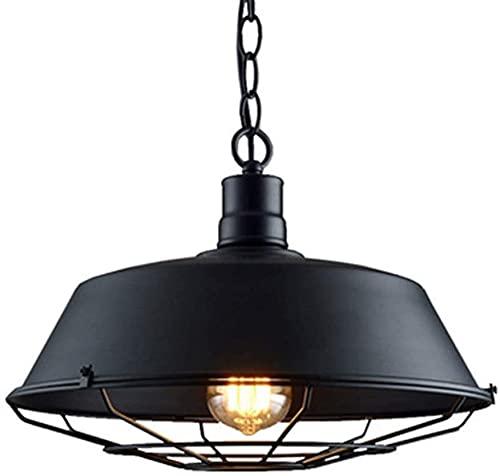 CMMT Lámpara de escritorio Edison sola cabeza barra tapa araña retro industrial bar cafetería salón cocina lámpara de mesa 25 cm
