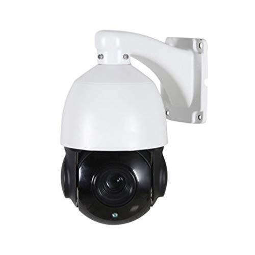 30X Zoom 1080P 2.0MP Impermeable PTZ Velocidad cúpula IR Cámara Asistencia visión Nocturna Mini cámara de Seguridad para hogar Oficina - Blanco