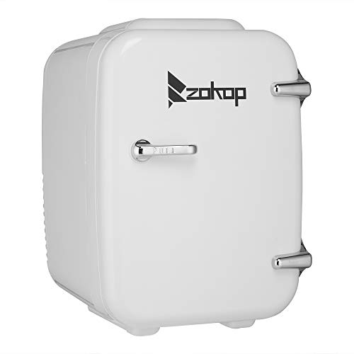 ZOKOP Mini Fridge 5 Liter Compact Portable Cooler Warmer Mini Fridge, Mini Portable Compact Personal Fridge, Thermoelectric Cooler and Warmer for Bedroom, Office, Dorm, Car,Skincare & Cosmetics