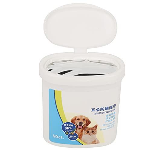 Fishawk Toallitas limpiadoras para Mascotas, toallitas dentales Toallitas portátiles para aliviar los oídos, toallitas para los Dedos para Viajes, Viajes a la Playa para Perros y Gatos