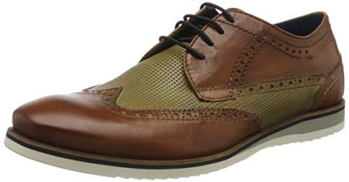 Daniel Hechter 811442021111, Zapatos de Cordones Derby Hombre, Braun Cognac 6372-Secador de Pelo, Color Verde Claro, 40 EU